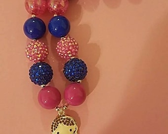 Child size Anna chunky bead necklace