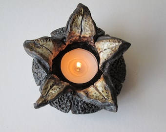 Votive Candle Holder Ceramic Lantern Tea Light Pottery Luminary