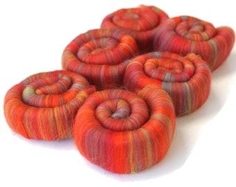 Merino Rolags - Macaw Fine Merino Wool 21 Micron 100g 3.5oz