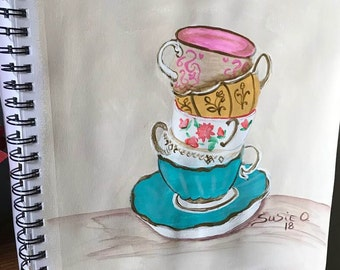 Stack of Tea Cups