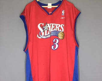 Authentic Sixers Iverson NBA Jersey Size 2XL