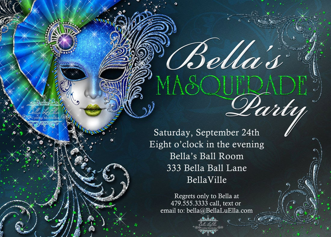 masquerade ball invitations