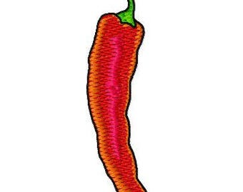 Hot Pepper Embroidery Design, Instant Download, Fits 4x4  Hoop, PES format and more