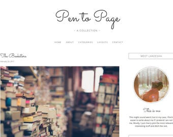 Pen to Page - WordPress Theme, Modern and Responsive