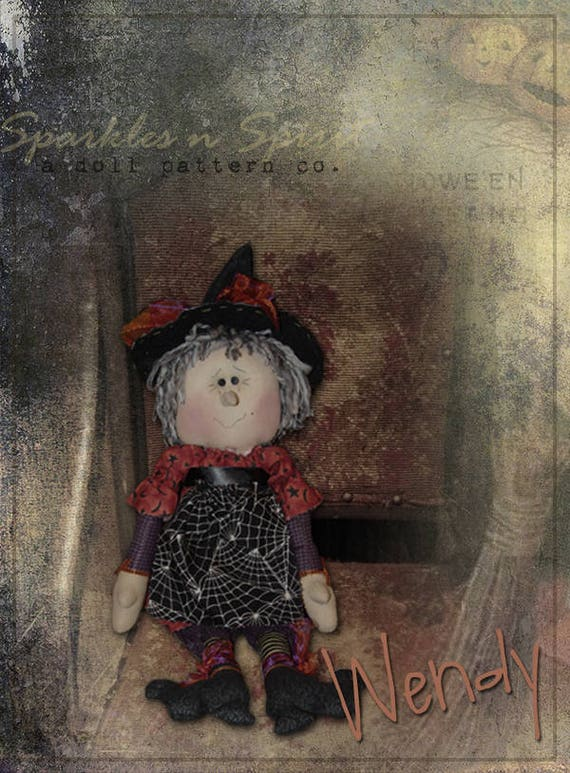"Doll Kit: ""Wendy"" - 17""  Witch Rag Doll"