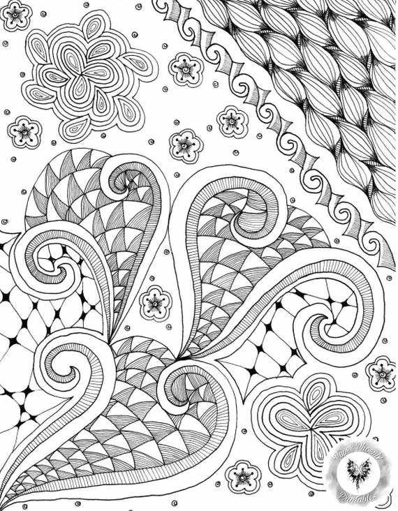 Página para colorear para imprimir abstracto al azar