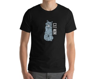 Cat Mom Mother's Day Tshirt by Blue Avocado