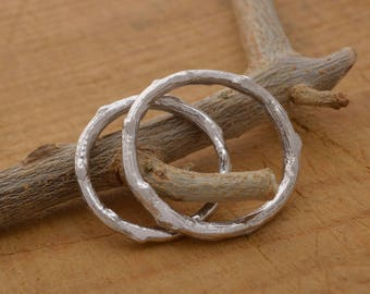 Tree Branch Rings, Sterling Silver Twig Wedding Bands, 2.5mm wide, BE129