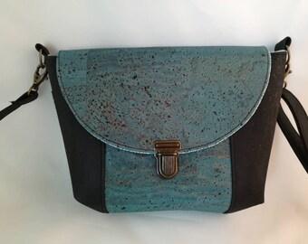 Shoulder bag handbag in Cork, Cork satchel handbag, leather handbag, vegan shoulder bag