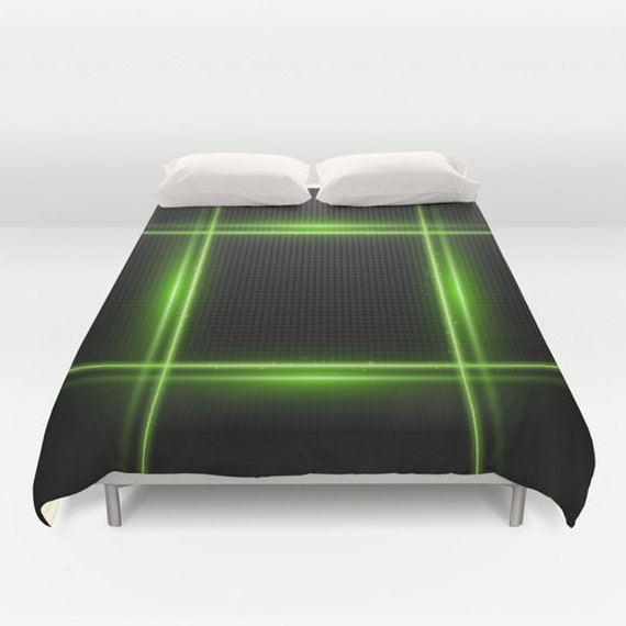zoom duvet cover technology it listing neon il green king
