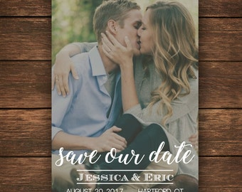 Save the Date   Photo Save the Date   Save the Date Card   Rustic Save the Date Card   Wedding   Simple Save the Date   Custom Save the Date