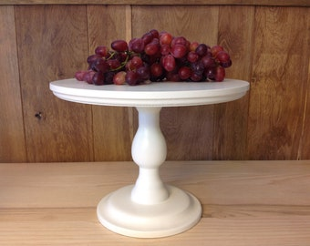 """CAKE STAND 11,6"""" White Elegance, Solid Wood"""