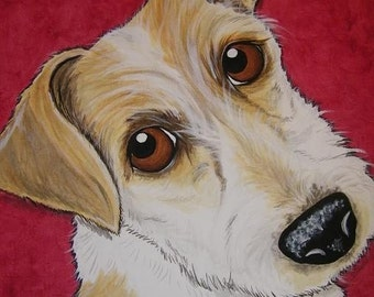 CUSTOM Painted Pet Portrait 11x14 hand painted, pet memorial, Christmas gift, personalized, painting