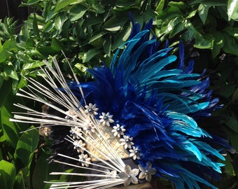 Tahitian & Cook Islands, Raro Dancers Headpiece. Perfect For Both Female And Male Of All Ages! Choose Any Color Except White! Soloist, Luau.