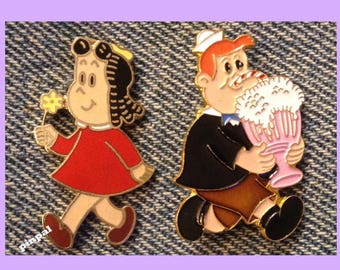 Little LuLu & Tubby Lapel Pins ~ Collection Set of 2 ~ Western Publishing
