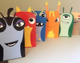 Slug Party Printables for Gift Sacks