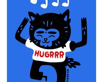 HUGRRR - A3 Print