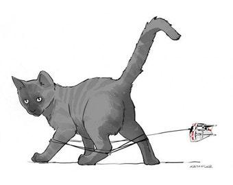 CAT-AT art print - various sizes