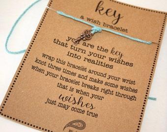 KEY Wish Bracelet - Make A Wish - Birthday ... Gift