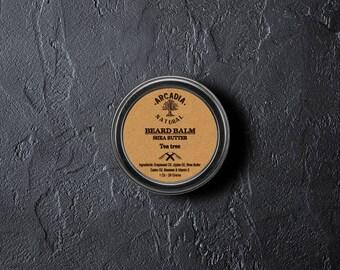 Handmade Natural Beard Balm, Men's skin care, Beard Moisturizer, Bear Conditioner, Beard styling, Beard Balm with tea tree oil