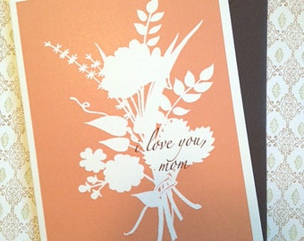 Mother's Day single card - I Love You, Mom