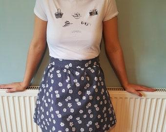 Pleated Skirt, Boho skirt, Gift for her, Bohemian skirt, Pleated mini skirt, Mini skirt, Festival Clothing, Festival,Music Festival clothing