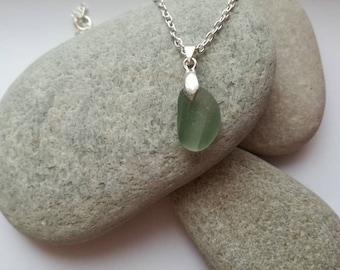 Green Multi Sea Glass Pendant Necklace