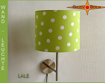 Wall lamp green LALE  dotted wall light