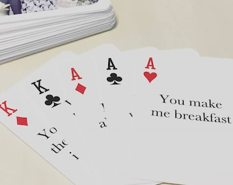52 Reasons Why I Love You / Custom Deck of Cards / Valentine's Day / Wedding Gift / Anniversary Gift / First Anniversary Paper Gift