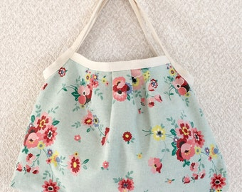 SALE! Reversible Shopper Bag - Yuwa fabric, cotton / linen