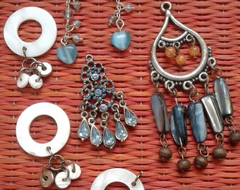 Destash Craft Lot Jewelry Bits and Pieces for Craft Dangles Shells