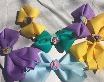 Small Princess Bow - Ariel, Belle, Cinderella, Rapunzel