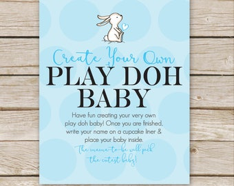 Baby Play Dough Build A Baby Baby Shower Game Play Dough