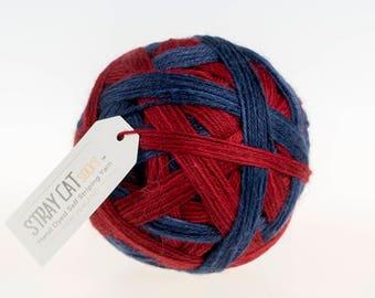 HIPSTER - hand dyed self striping sock yarn 75/25 superwash merino/nylon