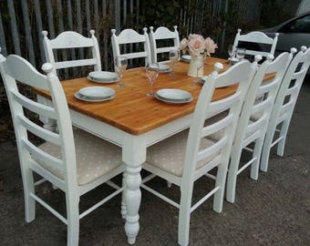 Stunning 7ft Farmhouse Shabby Chic table set