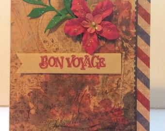 "Floral ""Bon Voyage"" card"