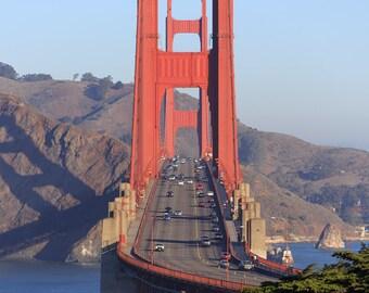 Golden Gate Bridge Photo - San Francisco Fine Art Print - North View, Head On View - Photography, Bay Area, California Photo