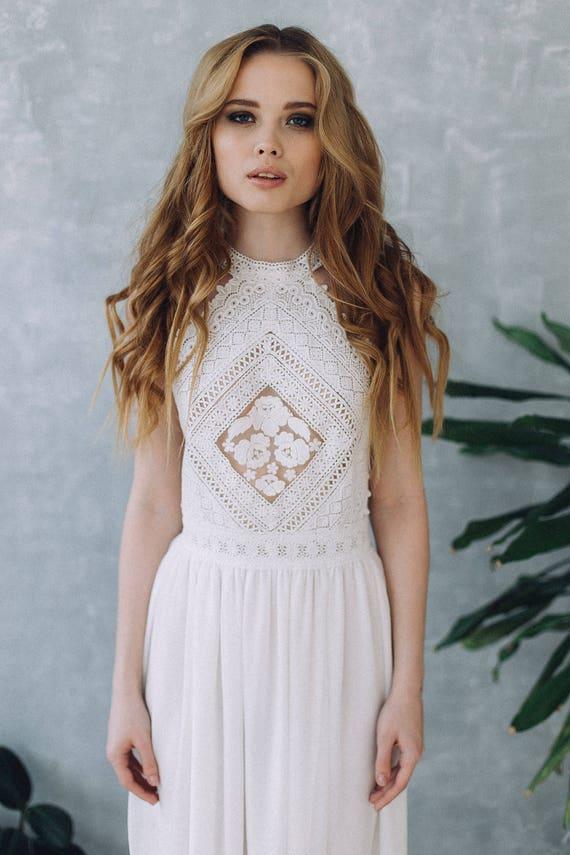Kleid D0103 Hochzeitskleid Boho Hochzeit romantische