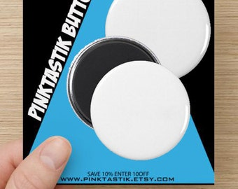100 Custom Button Magnets - refrigerator button magnets, business card magnets