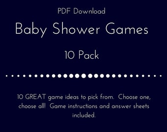 Baby Shower Games 10 Pack