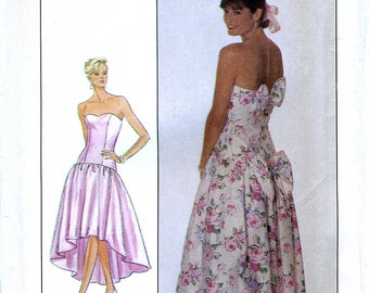 Simplicity 9011 Vintage 80s Sewing Pattern for Misses' Dress - Uncut - Size 20