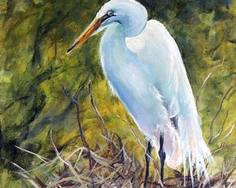The Heron's Nest 8 x 10 print on linen card stock