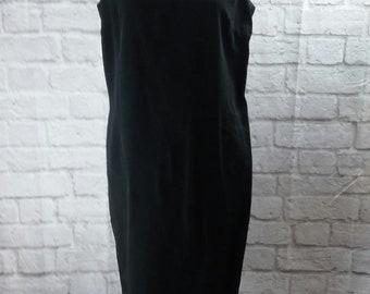 Vintage Jack MulQueen Women's Sheath Dress Black Size 12 (004PE)