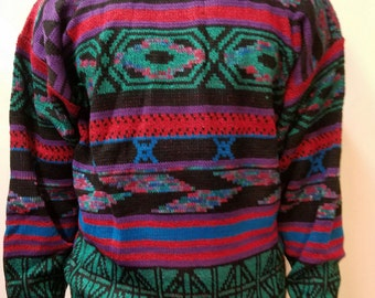 HEY HEY HEY! Retro Vintage Cosby sweater Remember the 80s in this Acrylic soft sweater Love Vintage Love Retro Love the 80s