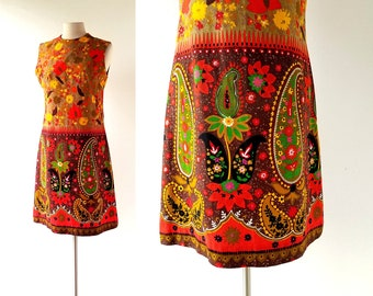 Vintage 1960s Dress | India Summer | 60s Dress | Small S