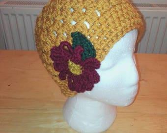A Messy bun hat beanie