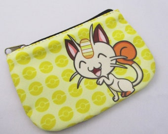 Meowth Spare change Double sided Coin Purse