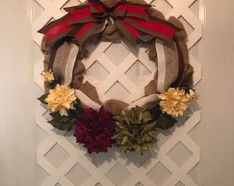 Farmhouse Wreath For Front Door - Farmhouse Decor - Rustic Country Wreath - Farmhouse Wreath - Summer Wreath- Farmhouse Door Wreath - Farm