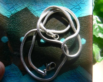 """18"""" silver plated necklace chain"""
