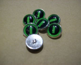 Type O Negative inspired set of 7 Sewing Buttons